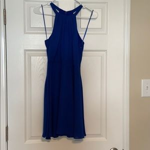 Royal blue skater dress
